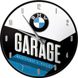 BMW - Garage  Wanduhr 31cm  /  51077