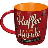Kaffee und Hund Tasse  8,5x9cm, 330ml  /  43039
