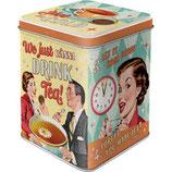 Tea & Cookies Together  Tea-Box 7,5 x 7,5 x 9,5cm  /  31314