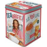 Tealicious & Tearrific  Tea-Box 7,5 x 7,5 x 9,5cm  /  31301