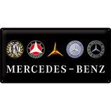 Mercedes-Benz - Logo Evolution  50x25cm  / 27026