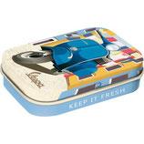 Vespa - Italien Laundry, blaue Vespa Mint Box 4x6x1,6cm  /  81411
