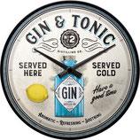 Gin & Tonic Served Here, Wanduhr 31cm  /  51099