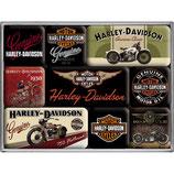 Harley Davidson Bikes, Magnet-Set  9x2x7cm / 83037