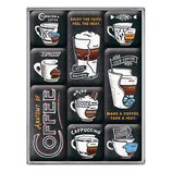 Anatomy of Coffee,  Magnet-Set  9St  9x2x7cm / 83112