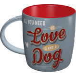 Love and Dog Tasse  8,5x9cm, 340ml
