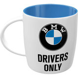 BMW  DRIVERS ONLY Tasse  8,5x9cm, 340ml