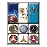 Mercedes-Benz Logo Evolution,  Magnet-Set 9x2x7cm  / 83103