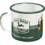 JOHN DEERE weiss/grün  8x8cm, 360ml