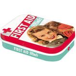 First Aid Couple, Nostalgic Pharmacy  Mint Box  4x6x1,6cm  /  81333