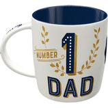 NUMBER 1 DAD Tasse  8,5x9cm, 340ml