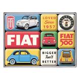 Fiat 500 - Loved Since 1957  Magnet-Set  9x2x7cm / 83121