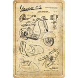 Vespa - Parts Sketches  20x30cm  /  22312