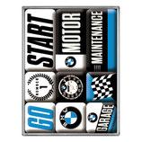 BMW Motor Magnet-Set 7x9,3x2cm  /  83097