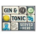 Gin & Tonic, Magnet-Set  9x2x7cm /  83116