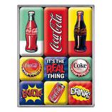 Coca-Cola - Pop Art,  Magnet_Set   9x2x7cm / 83120