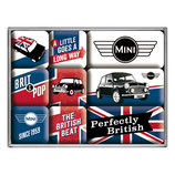 MINI - Union Jack, Perfectly British,  Magnet-Set  9x2x7cm / 83079