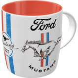 Ford Mustang - Horse & Stripes Logo  Tasse 8,5x9cm, 330ml  /  43065