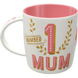 NUMBER 1 MUM Tasse  8,5x9cm, 340ml