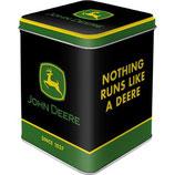 John Deere - Logo Black  Tea-Box 7,5 x 7,5 x 9,5cm  /  31313