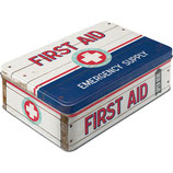 FIRST AID BLUE - Emergency Supply, Nosta  Vorratsdose Flach L / 2,5L / 30721