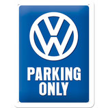 VW Parking Only  15x20cm  /  26169