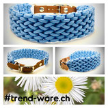 Hundehalsband Wave - hellblau Halsumfang 35 - 40cm