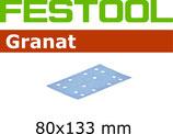 STF-Schleifstreifen Korn 080, Granat 80x133