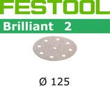 Festool STF-Schleifscheiben Brilliant2 Korn: 040, D125 mm; 50 Stück