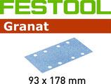 STF-Streifen Korn 060, Granat/93x178mm