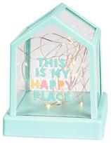 Happy me Lichterkette im Haus mit USB