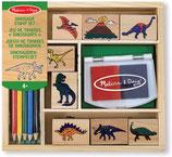 Stempel-Set Dinosaurier