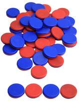 50 Wendeplättchen rot - blau