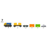 Güterzug mit drei Waggons