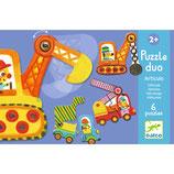 Lernspiel - Puzzle duo/trio: Bewegte Fahrzeuge
