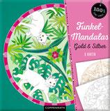 Funkel-Mandalas Gold & Silber - 8 Karten