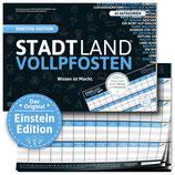 """STADT LAND VOLLPFOSTEN® - EINSTEIN EDITION - """"Wissen ist Macht"""""""
