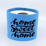 Klopapier-Manchette ★ Home Sweet Home ★ blau
