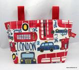 Lenkertasche Lotti-Trotti ★ London is calling ★ rot