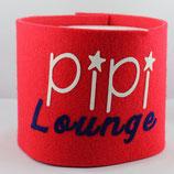 Klopapier-Manchette ★ Pipi Lounge ★ red