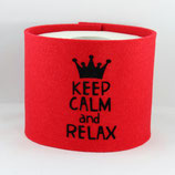 Klopapier-Manchette ★ Keep Calm and Relax ★ rot
