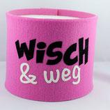 Klopapier-Manchette ★ Wisch & Weg ★ rosa