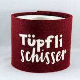 Klopapier-Manchette ★ Tüpfli Schisser ★ bordeaux