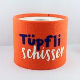 Klopapier-Manchette ★ Tüpfli Schisser ★ orange