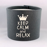 Klopapier-Manchette ★ Keep Calm and Relax ★ grau