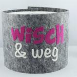 Klopapier-Manchette ★ Wisch & Weg ★ grey