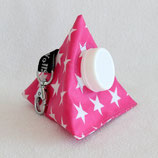 Kaugummi Bag Pyramide ★ pink with white stars ★