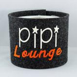 Klopapier-Manchette ★ Pipi Lounge ★ anthrazit