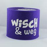 Klopapier-Manchette ★ Wisch & Weg ★ violett