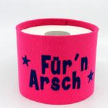 Klopapier-Manchette ★ Für'n Arsch ★ pink